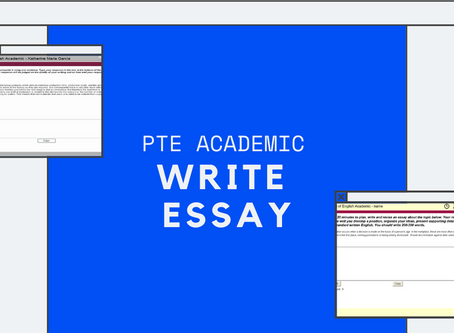 PTE Academic: Write Essay