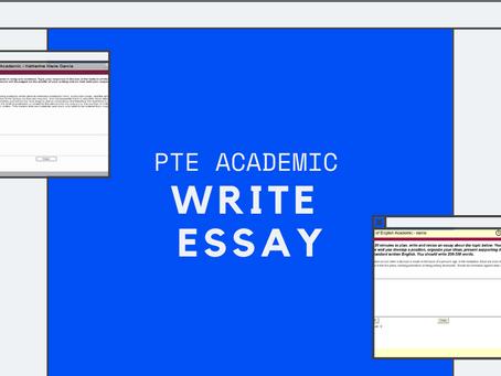 PTE Academic: Write Essay