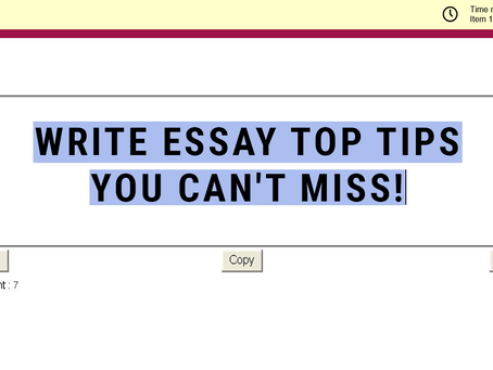 Write Essay Top Tips You Can't Miss!