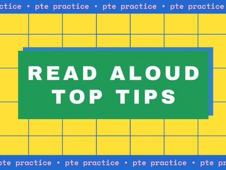 PTE Practice – Read Aloud Top Tips