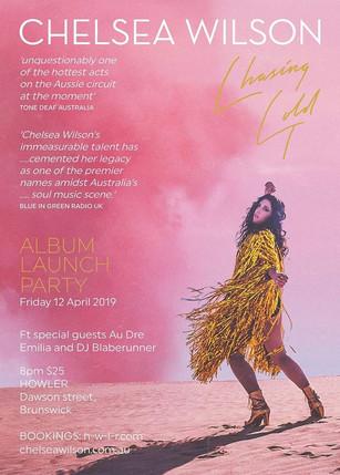 Chelsea Wilson 'Chasing Gold' Album Launch
