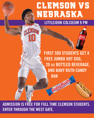 Clemson Basketball Flyer