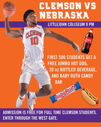 Clemson Basketball Flyer