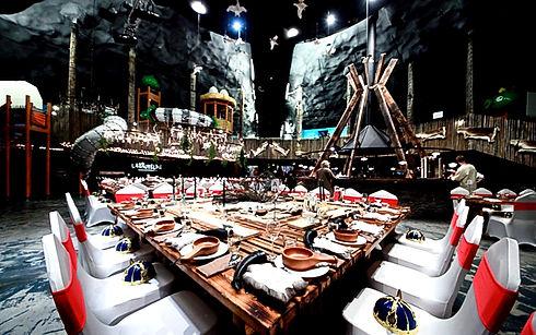 Medieval theme dinner table set up & creative decoration