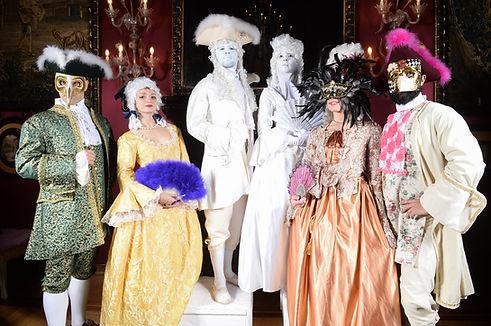 Venetian style meet & greet for corporate gala dinner