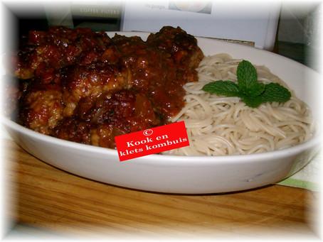 Italiaanse Frikkadelle met spaghetti