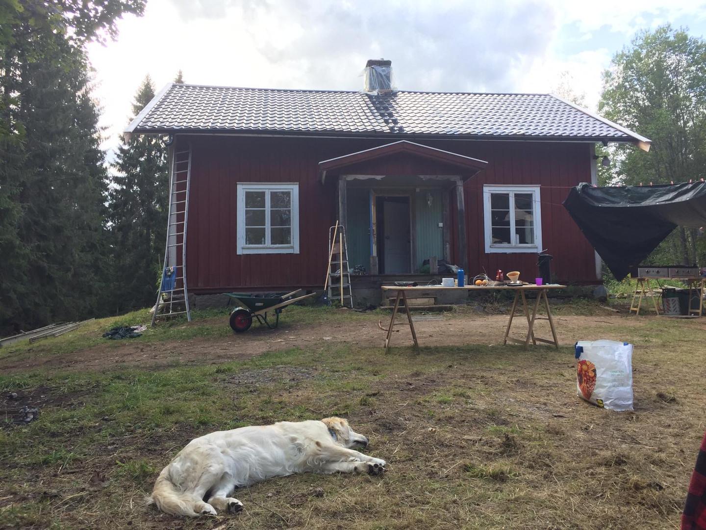 Voorkant huis Zweden