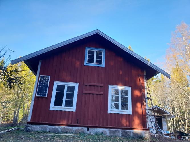 Huis Zweden zijkant