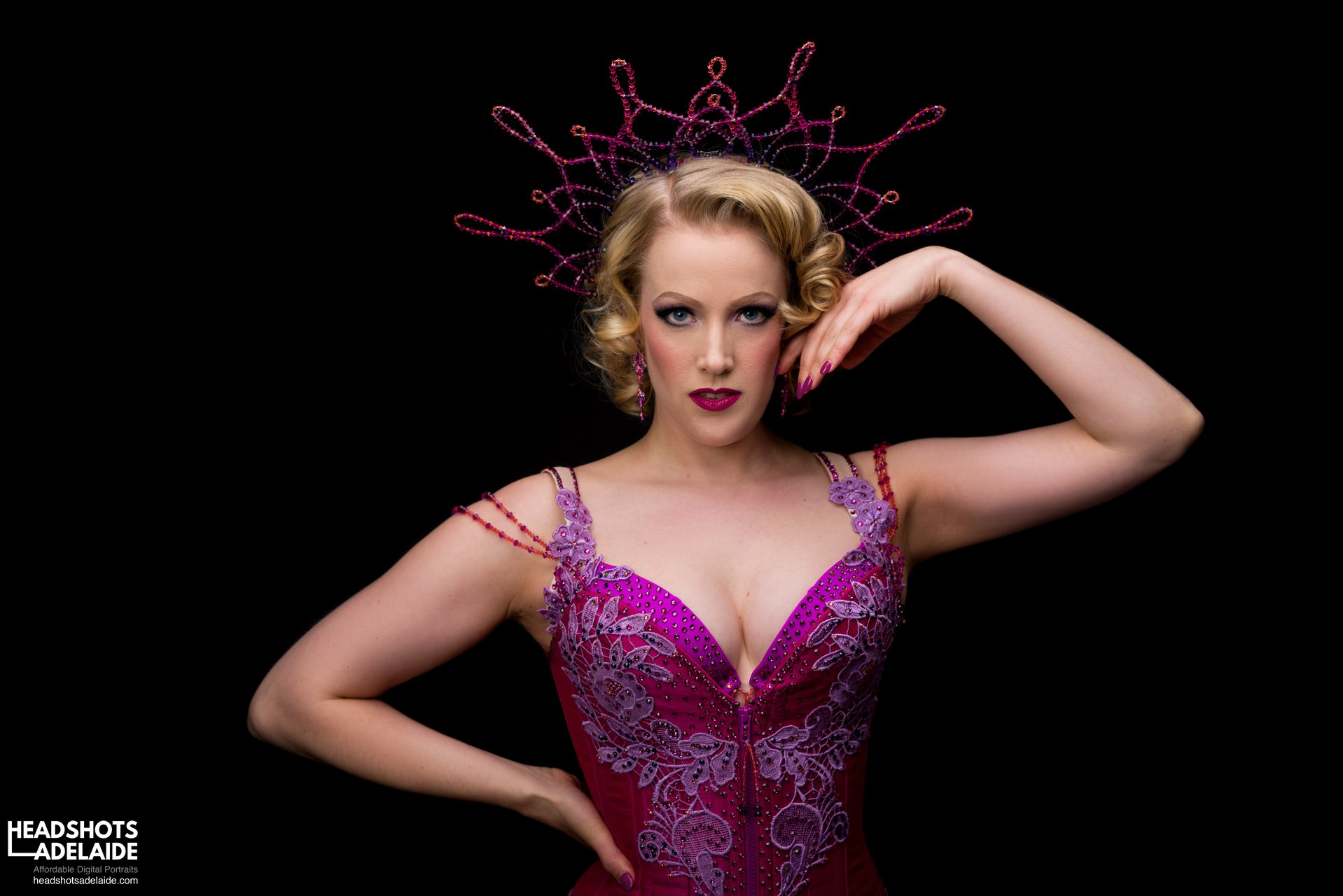 Fuchsia Burlesque Costume