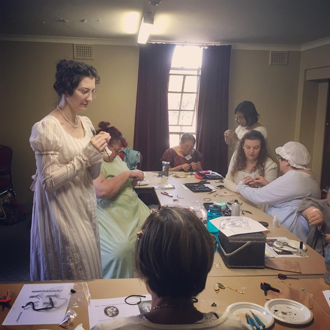 Teaching a class on Regency Mourning