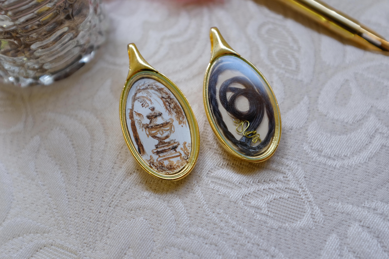 Regency inspired mourning pendants