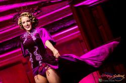 Fuchsia Burlesque Costume