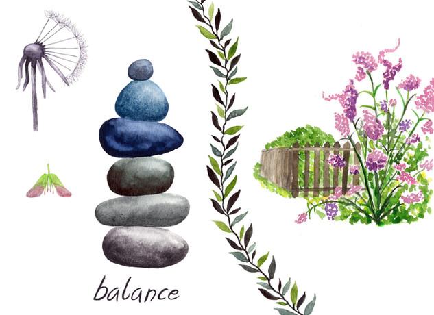 Balance : Spring Collage