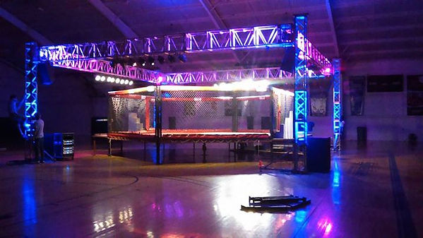 MMA ring with lights and sound