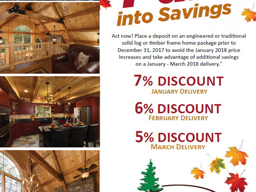 2017 Fall Timberhaven Log & Timber Homes Special