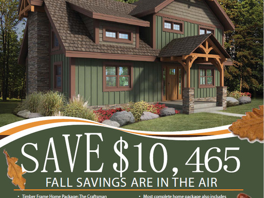 Fall Special from Timberhaven Log & Timber Homes