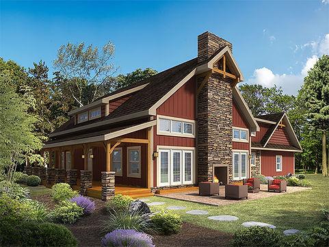 The Heritage Model Timberhaven Log Homes