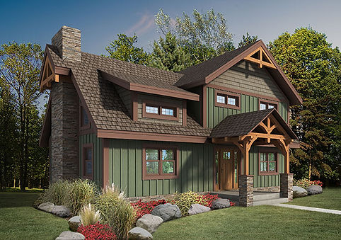 The Craftsman Model Timberhaven Log Homes