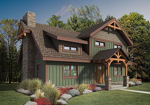 The Craftsman Model Timberhaven Log Homes