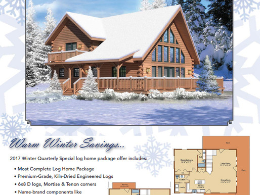 2017 Winter Timberhaven Log Home Special