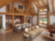 Maine Log home