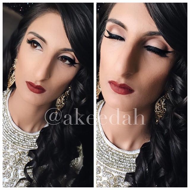 Makeup done by myself on _smokenlace #glam #makeup #makeupartist #boldlips #simple #eyeliner #inglot