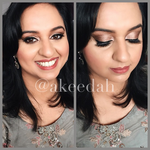 Kicked off today with this look for _noreensadiq #akeedahsignaturelook #peach #gold #browns #makeupa