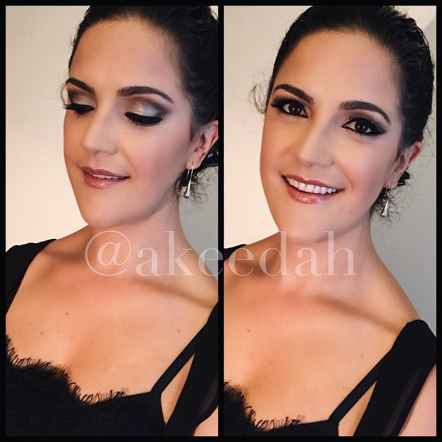 I enjoyed doing Monica's makeup today! Isn't she a total babe! She was off to pick up her husband fr