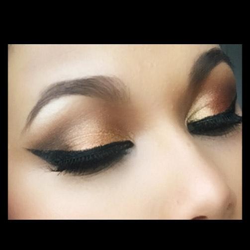 My #eotd #eye #makeup #eid #bronze #gold #smoke #liner #lash #sugarpill #inglot #eyelure