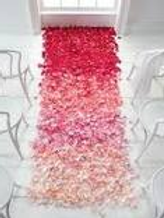 Aisle Runner Silk Flowers