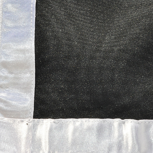 Black With Satin Border Overlay