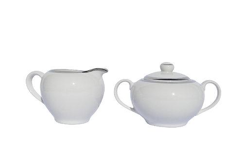 Sugar & Cream Bowl Paltinum Set