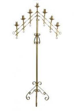 7 Branch Brass Candelabra