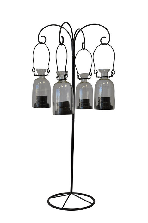 Lantern Antique Brown Hanging Glass Votives