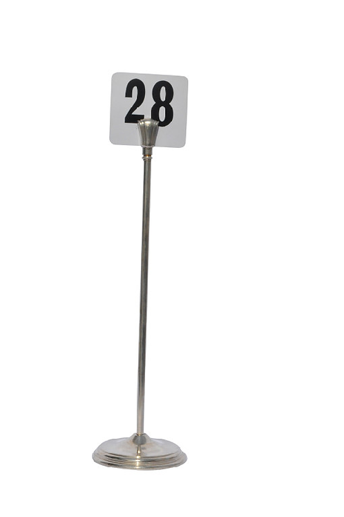 Table Number and Silver Stand