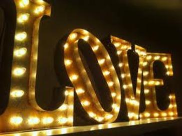 Vintage LOVE  Sign Letters