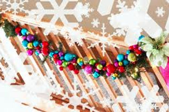 Christmas Garland Multi Color Rental