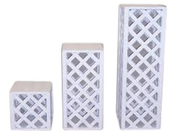 Lattice White Plant Stands