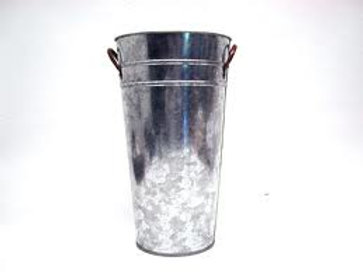 Bucket Galvanized Floral