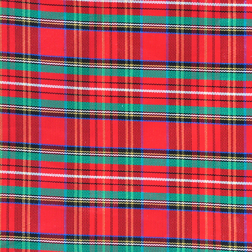 Red Tarter Plaid Overlay