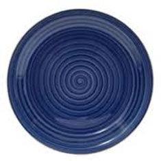 Plate Blue Stoneware Swirl