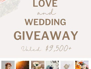 Love & Wedding Giveaway!