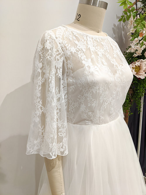 Vine gown with tulle 'Paris' skirt size 16