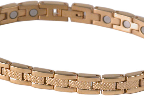 SBP1193 Ladies Stainless Steel Gold Plated Magnetic Bracelet