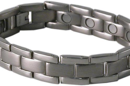 SBP0603 Mens Titanium Silver Magnetic Bracelet