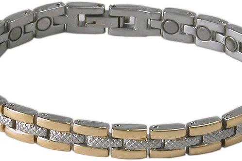 SBP 1063 Ladies Stainless Steel Silver/Gold Mangetic Bracelet