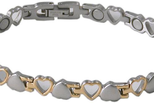 SBP 0823 Stainless steel Silver & Gold Magnetic Bracelet