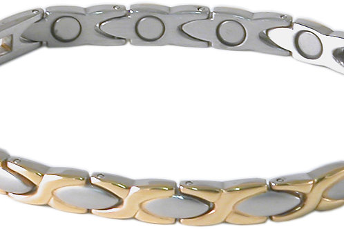 SBP0963 Ladies Stainless Steel Silver/Gold Mangetic Bracelet