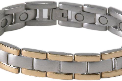 SBP1953 Stainless Steel Slver & Gold Magnetic Bracelet