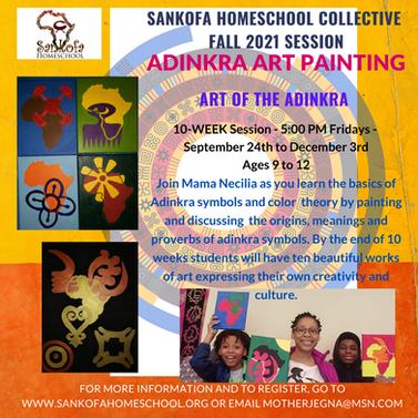 Adinkra Art - Fall 2021